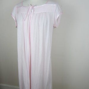 Eileen West Pink Soft Knit Midi Nightgown S NEW